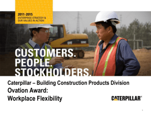 Caterpillar – Building Construction Products Division Ovation Award
