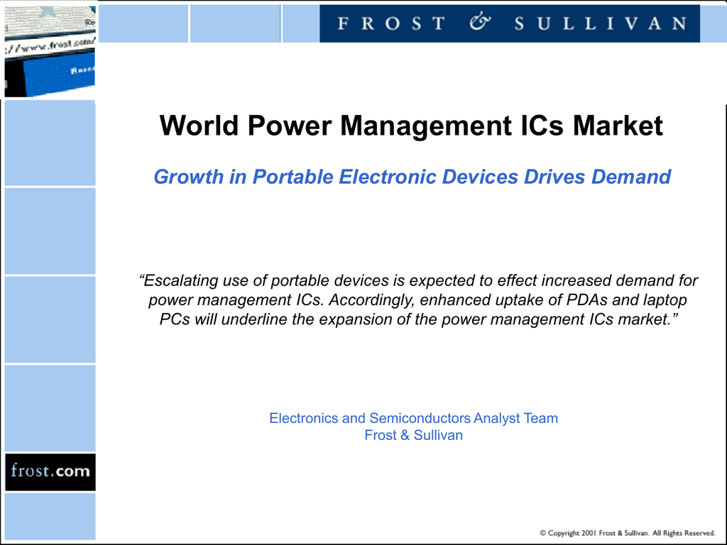 World Power Management Ics Market Growth In Electronic