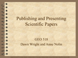 PowerPoint Presentation - Scientific papers their