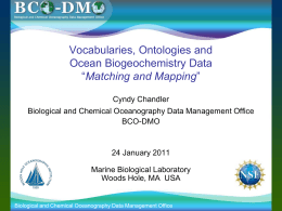 Vocabularies, Ontologies and - BCO-DMO