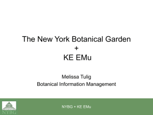 KE Software`s Electronic Museum + The New York Botanical Garden