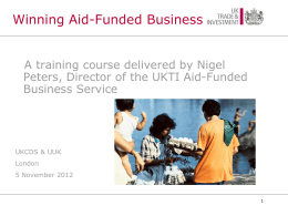 What is aid funded business?