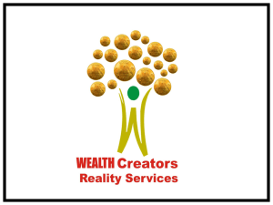 real estate - Wealth Creators Reality Services