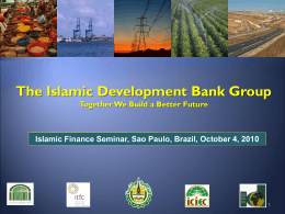The Islamic Development Bank Group