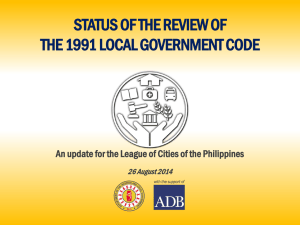 review of the 1991 local government code