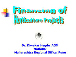 "Webinar on ""Horticulture Project Finance"" on December 3"