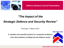 FAC Presentation - Defence Advisers Council