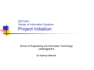 Project Initiation - School of Engineering and Information Technology