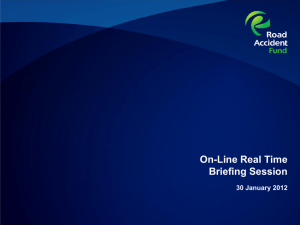 Briefing session Presentation - Online Real Time Claims Processing