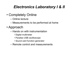 Eectronics Laboratory Online (slide show with sound track)