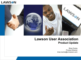 View the Presentation - Lawson User Association