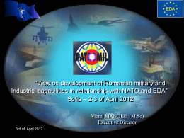 View on development of Romanian military and Industrial