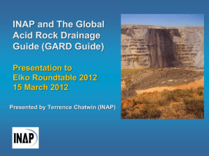 INAP and The Global Acid Rock Drainage Guide (GARD Guide)