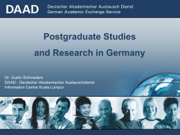 Study and research in Germany - Universiti Teknologi Malaysia