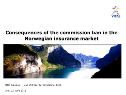 Impact of Commission Ban in Norway