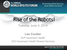 Rise of the Robots! - World BPO/ITO Forum