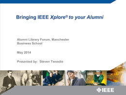 Content Online Announcement on IEEE Alumni Deal