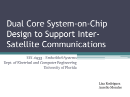 Dual-Core SoC Design to Support Inter