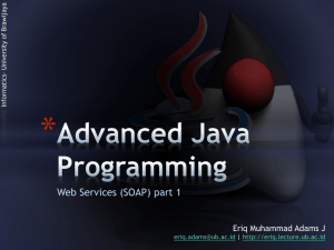 JAX-WS (Java API for XML Web Services)