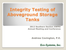 Integrity Testing - Southern Section Air & Waste Management