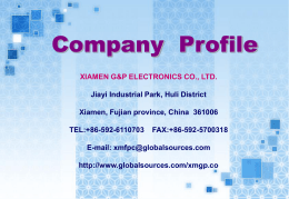 XIAMEN G&P ELECTRONICS CO.,LTD.