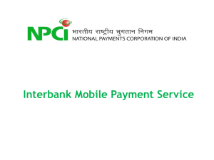 India-Pay Mobile Payment Service - National Payments Corporation
