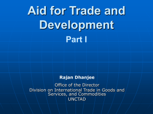 Aid For Trade part I