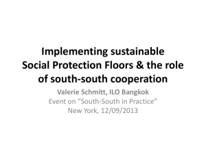 Ms. Valérie Schmitt, Social Security Specialist, ILO Sustainable