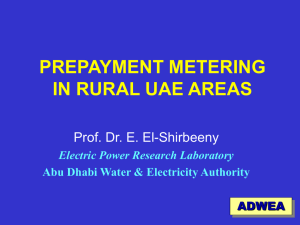 PREPAYMENT METERING IN RURAL UAE AREAS