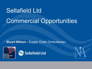 NIA NW - Sellafield Opportunities Presentation (uploaded Mar 2014)