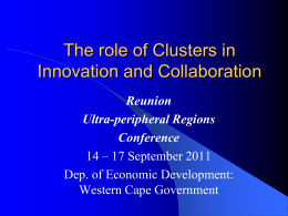 Local Clusters: The most Effective Tool for Regional Government to