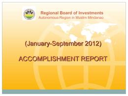 September 2012 Accomplishment Report