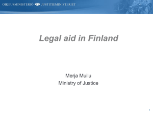 Legal aid in Finland