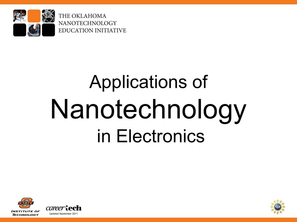 Applications of Nanotechnology in Electronics PowerPoint