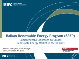 Balkan Renewable Energy Program (BREP)