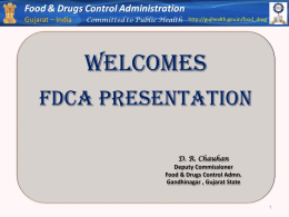 Food & Drug Control Administration