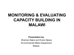 Monitoring and Evaluating Capacity-building in Malawi