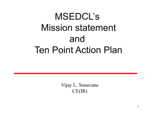 MSEDCL--Mission and