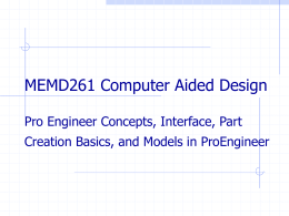 pro engineer concepts interface part creation basics and models in