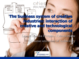 Creative industries business system: technological component