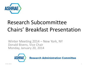 Research Subcommittee Chair`s Breakfast New York 2014