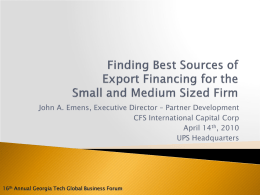 John A. Emens - CFS International Capital Corp