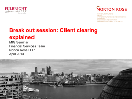 Client clearing explained