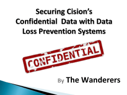 Securing Confidential Data within a Business