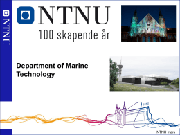 The Marine Structures Laboratory