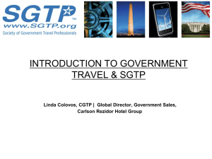 Gov. Orientation - Society of Government Travel Professionals