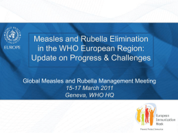 EURO - Measles & Rubella Initiative