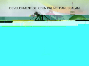Development of ICD in Brunei Darussalam