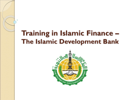 Training in Islamic – The Islamic Development Bank