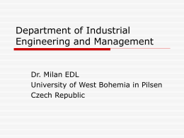Department Industrial Engineering and Management
